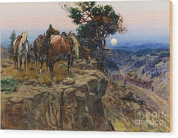 Innocent Allies Wood Print by Pg Reproductions