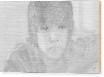 Innocent Eyes Of Justin. Wood Print by Erwin Verhoeven