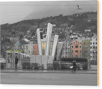 Innsbruck Art Wood Print