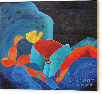 Inorganic Incandescence Wood Print by Lynne Reichhart