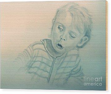 Inquisitive Child Wood Print