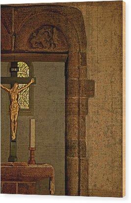 Inri Wood Print by Odd Jeppesen