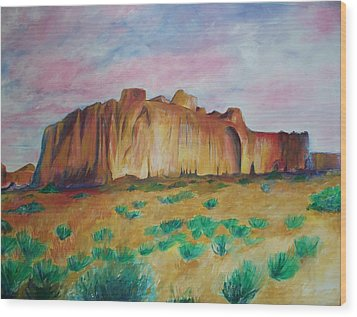Wood Print featuring the painting Inscription Rock  by Eric  Schiabor