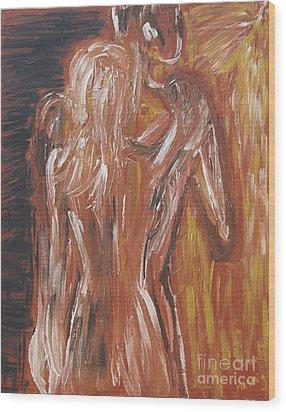 Inseparable Lovers Wood Print by Jasmine Tolmajian