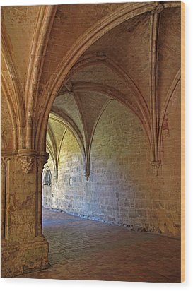 Inside A Monastery Dordogne France  Wood Print by Dave Mills