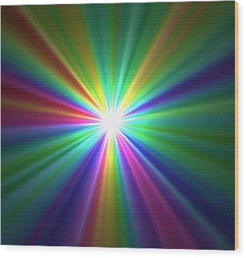 Inside A Rainbow Wood Print
