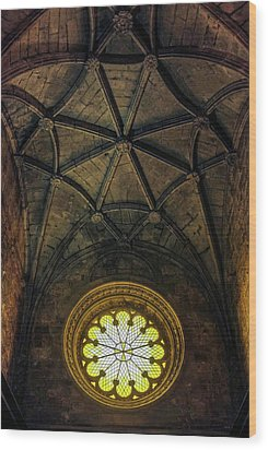 Wood Print featuring the photograph Inside Jeronimos by Carlos Caetano