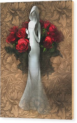 Inside Pattern Wood Print by Svetlana Sewell