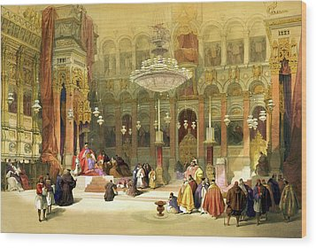 Inside The Church Of The Holy Sepulchre Wood Print