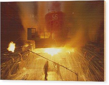 Inside The East-slovakian Steel Mill Wood Print by James L Stanfield