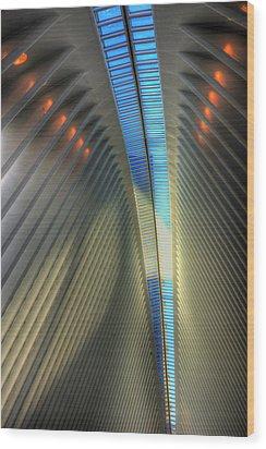 Inside The Oculus Wood Print by Paul Wear