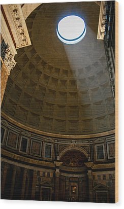Inside The Pantheon Wood Print