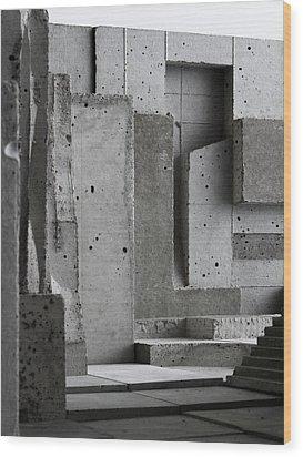 Inside The Walls 3 Wood Print by David Umemoto