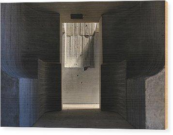 Inside The Walls 4 Wood Print by David Umemoto