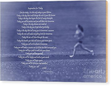 Inspiration For Today Runner  Wood Print by Cathy  Beharriell