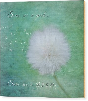 Inspirational Art - Some See A Wish Wood Print by Jordan Blackstone