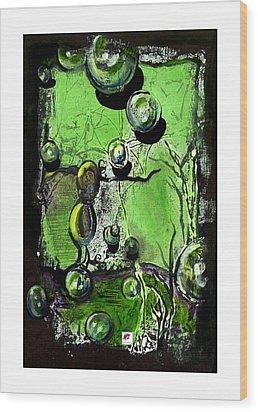 Wood Print featuring the painting Inspire by Carol Rashawnna Williams