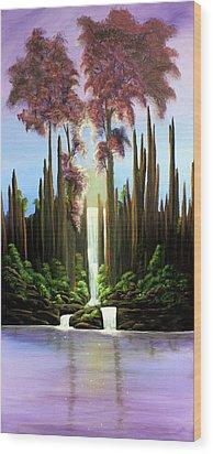 Inspireation Falls Wood Print