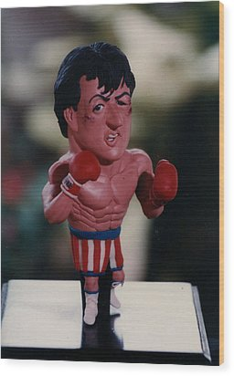 Inspired Rocky Wood Print by Joaquin Carrasquilla