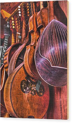 Instrumenti Wood Print by Frank SantAgata
