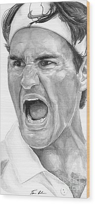 Intensity Federer Wood Print