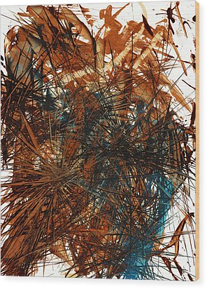 Intensive Abstract Expressionism Series 46.0710 Wood Print