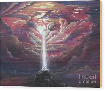 Intercession Through Worship Wood Print by Kathy Brusnighan