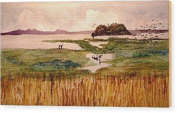 Intercoastal Waterway Wood Print by Jim Phillips
