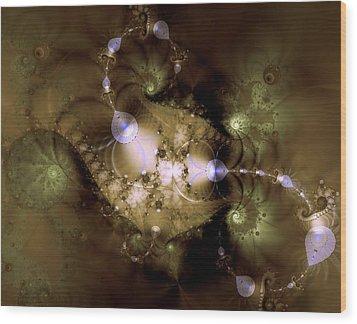 Intergalactica Wood Print by Casey Kotas