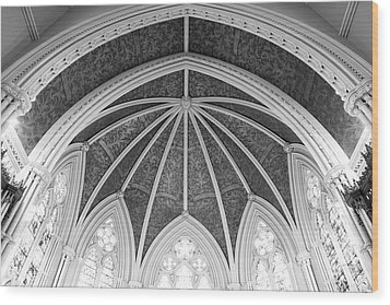 Interior Architecture Of A Church Wood Print
