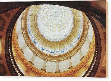 Wood Print featuring the photograph Interior Denver Capitol by Marilyn Hunt