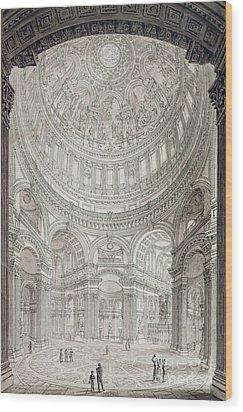 Interior Of Saint Pauls Cathedral Wood Print by John Coney