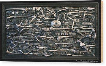 Internal Combustion 2 Wood Print by Jud  Turner