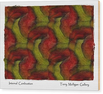 Internal Combustion Wood Print by Terry Mulligan