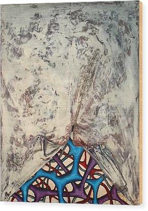 Internally Unzipped Wood Print by Nancy Mueller