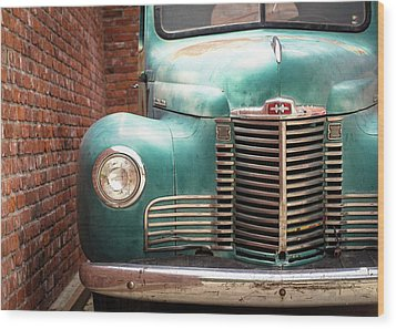Wood Print featuring the photograph International Truck 2 by Heidi Hermes