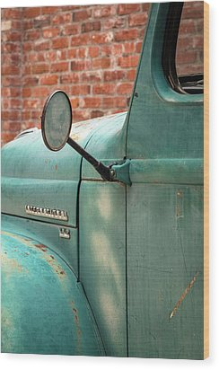 Wood Print featuring the photograph International Truck Side View by Heidi Hermes