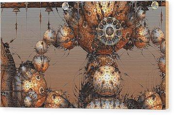 Interplanetary Travel Wood Print