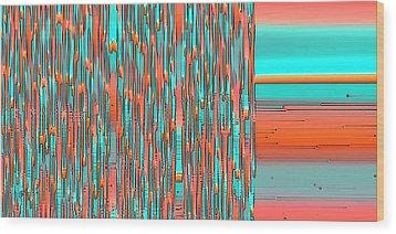 Interplay Of Warm And Cool Wood Print by Ben and Raisa Gertsberg