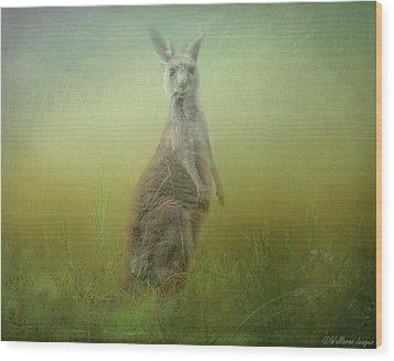 Interrupted Meal Wood Print by Wallaroo Images