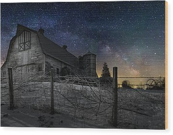 Wood Print featuring the photograph Interstellar Farm by Bill Wakeley