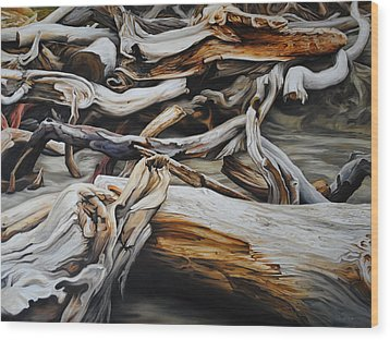 Intertwined Wood Print by Chris Steinken