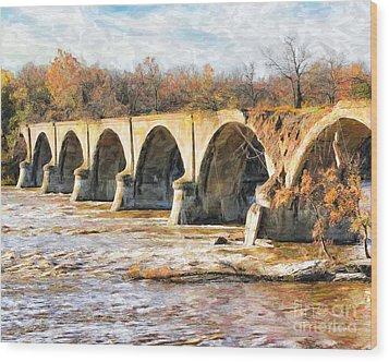 Interurban Bridge Wood Print
