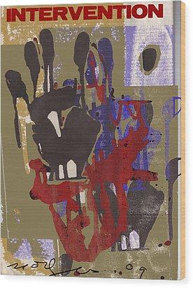 Intervention Wood Print by Noredin Morgan