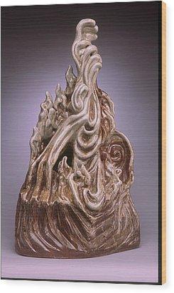 Intervention Wood Print by Stephen Hawks
