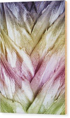 Interwoven Hues Wood Print by Holly Kempe