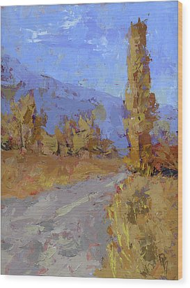 Into Autumn Wood Print
