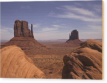 Into Monument Valley Wood Print by Andrew Soundarajan