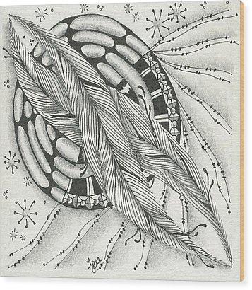 Into Orbit Wood Print by Jan Steinle