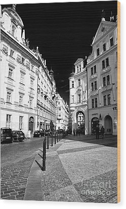 Wood Print featuring the photograph Into Prague Old Town Square by John Rizzuto